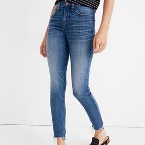"Madewell 9"" High-Rise Skinny Jeans Destructed-Hem"